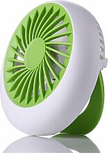 ZIJIFAN Usb mini Ventilator im Sommer laden kleine Lüfter laptop Handheld elektrischer Ventilator, Grün
