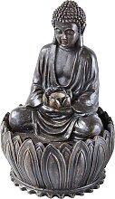 Zimmerbrunnen Buddha, braun