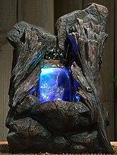 Zimmerbrunnen Lenha LED Farb Beleuchtung 36 cm