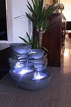 Zimmerbrunnen mit LED Beleuchtung Innen und Außen Springbrunnen Gartenbrunnen