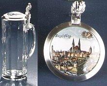 Zimmermann Bierseidel Bier-Krug Augsburg bunt