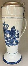 Zimmermann Bierseidel Bier-Krug blau Weißbierkrug