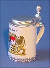 Zimmermann Bierseidel Bier-Krug Freistaat Bayern