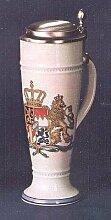 Zimmermann Bierseidel Bier-Krug Wappen 1794 bunt