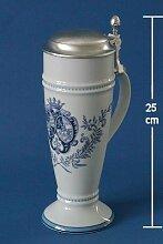 Zimmermann Bierseidel Bier-Krug Wappen1794 blau