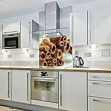Zimt – Spritzschutz aus Glas für die Küche