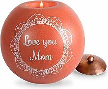 Zimt Swirl Love You Mom rund Teelicht