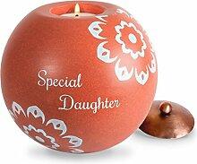Zimt Swirl Special Daughter rund Teelicht