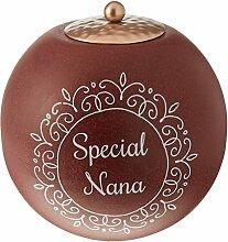 Zimt Swirl Special Nana rund Maroon Teelicht