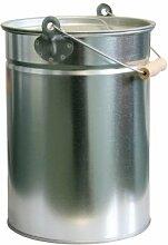 Zink-Ascheeimer mit Deckel - Kohleneimer klein -