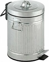 Zink-Legierungspedal-Metall-Mülleimer-Retro- Abfall-Wäscherei-Behälter 5 Liter