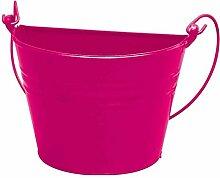 Zinkeimer halb pink Zinkblech