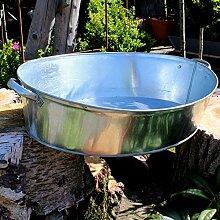 Zinkwanne 27 Liter oval mit stabilen Griffen