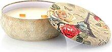 Zinn Kerze Romantische Pflanze Ätherische Öl
