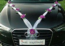 ZINNIE M Auto Schmuck Braut Paar Rose Deko