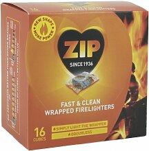 Zip Fast & Reinigen Wrapped Feueranzünder Paket 16