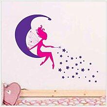 Zipei Mond Mädchen Kinderzimmer Hintergrund
