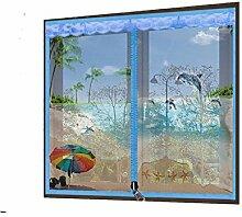 Zipper Anti - Moskitonetze Bildschirme Bildschirme Netz Vorhang Anti - Moskito Sieb Netz Sand Fenster Netz magnetisch unsichtbare Vorhänge Bildschirme Netzwerk , 3 , 150x180cm