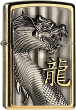 Zippo 2004517 G Golden Dragon Feuerzeug, Messing,