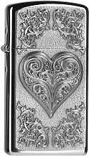 Zippo 2004523 Feuerzeug Heart with Ornaments Slim