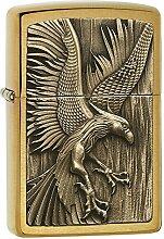 Zippo 2004828 Feuerzeug PL 204B Phoenix on Fire Brass Benzinfeuerzeug, Messing, 5 x 3,9 x 5,9 cm