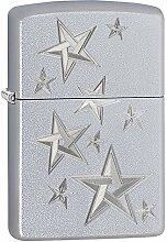 Zippo 3D Stars Benzinfeuerzeug, Messing,