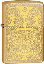 Zippo 60000370Scroll Feuerzeug Messing Gold Dust 3,5x 1x 5,5cm
