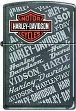 Zippo 60001504Harley Davidson Feuerzeug Messing grau Dämmerung 3,5x 1x 5,5cm
