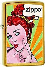 Zippo 60001872Pop Art Red Head Feuerzeug Messing