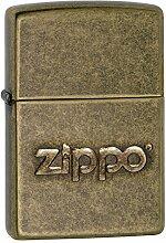 Zippo 60002307 PL Stamp Feuerzeug, Messing, Gold,