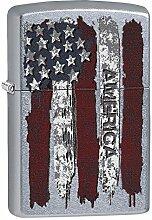 Zippo America Benzinfeuerzeug, Messing,