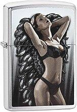 Zippo Bad Angel Benzinfeuerzeug, Messing,