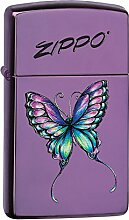Zippo Colorful Butterfly Benzinfeuerzeug, Messing,