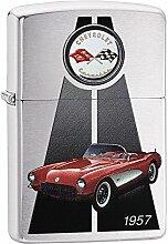 Zippo Corvette 1957 Benzinfeuerzeug, Messing,