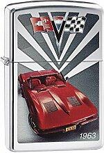 Zippo Corvette 1963 Benzinfeuerzeug, Messing,