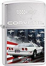 Zippo Corvette 1984 Benzinfeuerzeug, Messing,