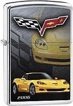 Zippo Corvette 2006 Benzinfeuerzeug, Messing,