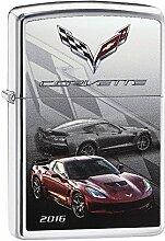 Zippo Corvette Z06 Benzinfeuerzeug, Messing,