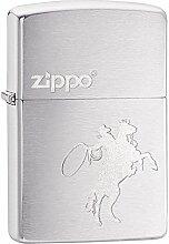 Zippo Cowboy and Horse Benzinfeuerzeug, Messing,