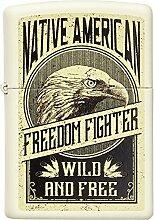 Zippo Eagle Benzinfeuerzeug, Messing,