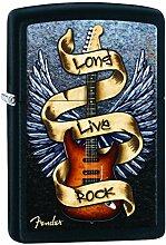Zippo Fender Benzinfeuerzeug, Messing,