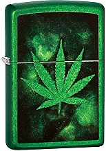 Zippo Feuerzeug Green Leaf Design