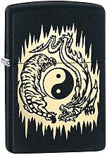 Zippo Feuerzeug Tiger Dragon Yin Yang Design
