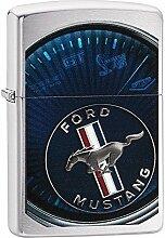 Zippo Ford Mustang Benzinfeuerzeug, Messing,