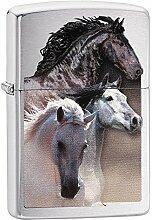 Zippo Galloping Horse IN Desert Benzinfeuerzeug,