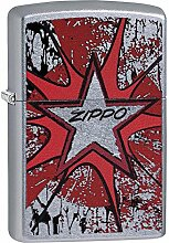 Zippo Grunge Star Benzinfeuerzeug, Messing,