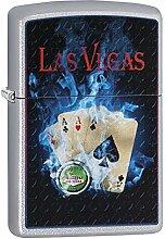 Zippo LAS Vegas Benzinfeuerzeug, Messing,