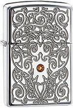 Zippo Ornate Stone Design Benzinfeuerzeug,