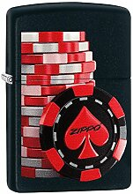 Zippo Poker Coins Benzinfeuerzeug, Messing,
