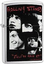 Zippo Rolling Stones Benzinfeuerzeug, Messing,
